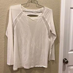 Lululemon top sheer long sleeve white